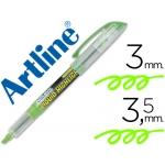 Rotulador Artline fluorescente color verde punta biselada