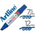Rotulador Artline marcador permanente 100 color azul punta biselada