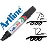 Rotulador Artline marcador permanente 100 color negro punta biselada