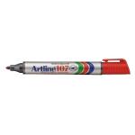 Rotulador Artline marcador permanente 107 color rojo punta redonda