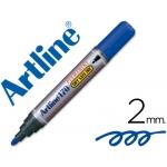 Rotulador Artline marcador permanente 170 color azul punta redonda 2 mm antisecado
