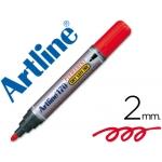 Rotulador Artline marcador permanente 170 color rojo punta redonda 2 mm antisecado
