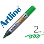 Rotulador Artline marcador permanente 170 color verde punta redonda 2 mm antisecado