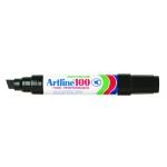 Rotulador Artline marcador permanente EK-100 color negro punta biselada