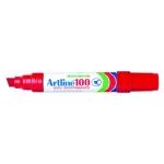 Rotulador Artline marcador permanente EK-100 color rojo punta biselada