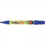 Rotulador Artline marcador permanente color azul punta redonda 1.5 mm papel metal y cristal