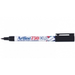 Rotulador Artline marcador permanente color negro punta redonda 0,7 mm en blister brico para lavandería