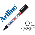 Rotulador Artline marcador permanente color negro punta redonda 0.7 mm papel metal y cristal