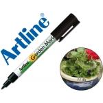 Rotulador Artline marcador permanente color negro punta redonda 0,8 mm en blister brico para jardin