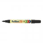 Rotulador Artline marcador permanente color negro punta redonda 1.5 mm papel metal y cristal