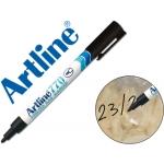 Rotulador Artline marcador permanente color negro punta redonda 1 mm en blister brico para congelados