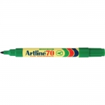 Rotulador Artline marcador permanente color verde punta redonda 1.5 mm papel metal y cristal