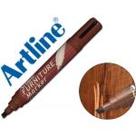 Rotulador Artline marcador permanente furniture mahogany color caoba punta biselada 2,0-5,0 mm en blister brico