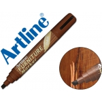 Rotulador Artline marcador permanente furniture oak-roble punta biselada 2,0-5,0 mm en blister brico