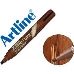 Rotulador Artline marcador permanente furniture walnut color nogal punta biselada 2,0-5,0 mm en blister brico