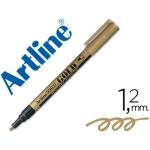 Rotulador Artline marcador permanente punta metálica color oro punta redonda 1.2 mm