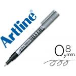 Rotulador Artline marcador permanente tinta metálica color plata punta redonda 0.8 mm