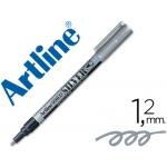 Rotulador Artline marcador permanente tinta metálica color plata punta redonda 1.2 mm