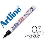 Rotulador Artline marcador ropa 750 color negro punta redonda 0.7 mm ropa papel metal y cristal