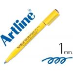Rotulador Artline multipen color azul punta redonda 1 mm tinta a base de agua