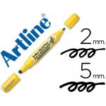 Rotulador Artline multipen color negro doble punta punta biselada 5 mm punta redonda 2 mm