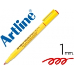 Rotulador Artline multipen color rojo punta redonda 1 mm tinta a base de agua