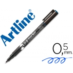Rotulador Artline para cd punta de fibra permanente color azul 0.5 mm blister de 1