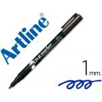 Rotulador Artline para cd punta de fibra permanente color azul punta redonda 1.0 mm