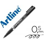 Rotulador Artline para cd punta de fibra permanente color negro 0.5 mm -blister de 1