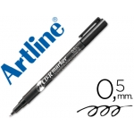 Rotulador Artline para cd punta de fibra permanente color negro punta redonda 0.5 mm