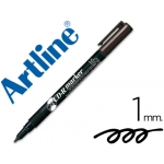 Rotulador Artline para cd punta de fibra permanente color negro punta redonda 1.0 mm