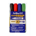 Rotulador Artline pizarra 4 punta redonda 2 mm bolsa de 4 rotuladores