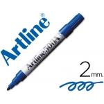 Rotulador Artline pizarra color azul punta redonda 2 mm recargable