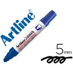Rotulador Artline pizarra color azul punta redonda 5 mm