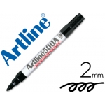 Rotulador Artline pizarra color negro punta redonda 2 mm recargable