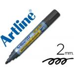 Artline EK-517 - Rotulador para pizarra blanca, punta redonda de 2 mm, color negro