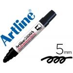 Rotulador Artline pizarra color negro punta redonda 5 mm