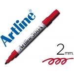Rotulador Artline pizarra color rojo punta redonda 2 mm recargable
