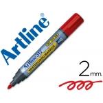 Rotulador Artline pizarra color rojo punta redonda 2 mm tinta de bajo olor