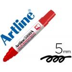 Rotulador Artline pizarra color rojo punta redonda 5 mm