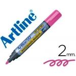 Rotulador Artline pizarra color rosa punta redonda 2 mm tinta de bajo olor