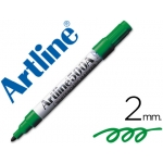 Rotulador Artline pizarra color verde punta redonda 2 mm recargable