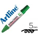 Rotulador Artline pizarra color verde punta redonda 5 mm