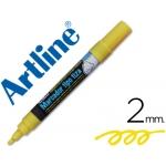 Rotulador Artline pizarra verde negra color amarillo bolsa de 4 rotuladores