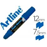 Artline EPW-12 AZ-BL - Rotulador para pizarra verde-negra, punta redonda de 10 mm, color azul