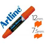 Rotulador Artline pizarra verde negra mm color naranja