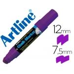 Artline EPW-12 VI-PU - Rotulador para pizarra verde-negra, punta redonda de 10 mm, color violeta