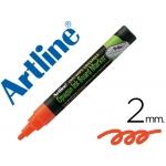 Rotulador Artline pizarra verde negra na color naranja bolsa de 4 rotuladores