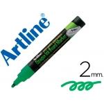 Rotulador Artline pizarra verde negra ve-gr color verde fluorescente bolsa de 4 rotuladores