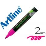 Rotulador Artline pizarra verde negra vi color violeta bolsa de 4 rotuladores